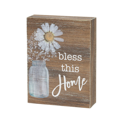 Bless Home Block Sign