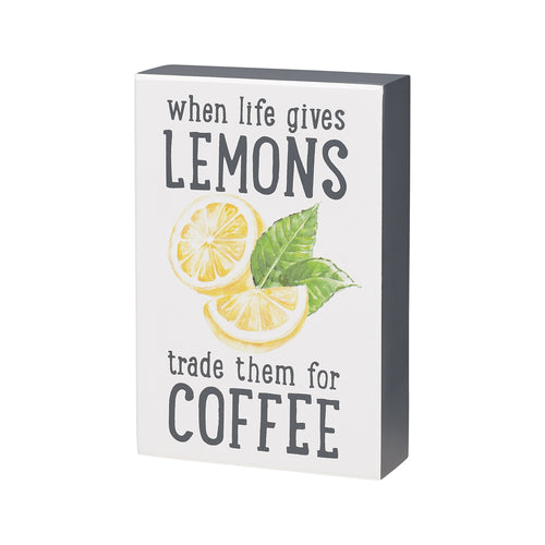 Lemons for Coffee Box Sign