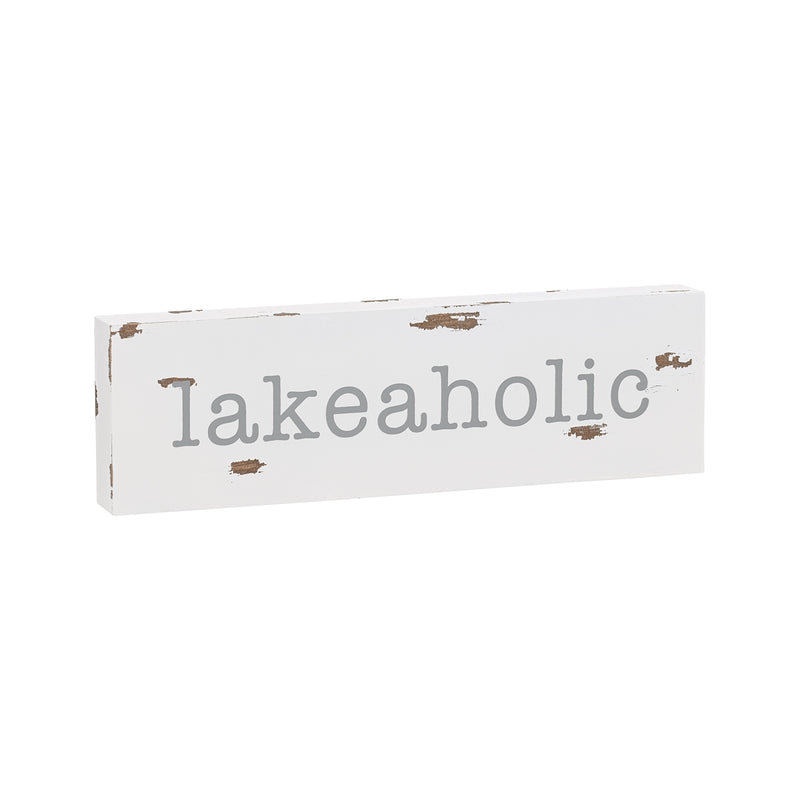 Lakeaholic Block Sign