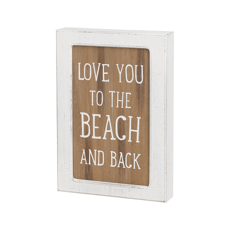 Beach and Back Layered Sign