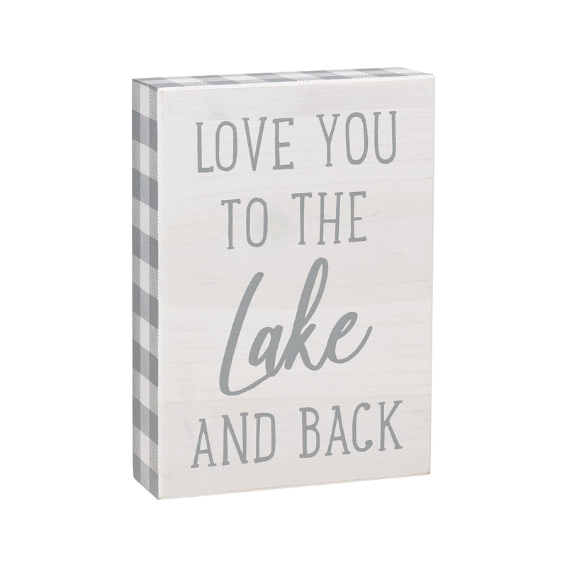 Lake and Back Box Sign