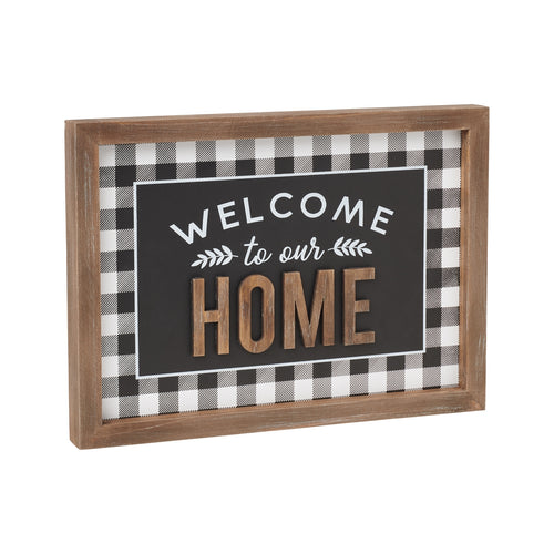 Our Home 3D Framed Sign