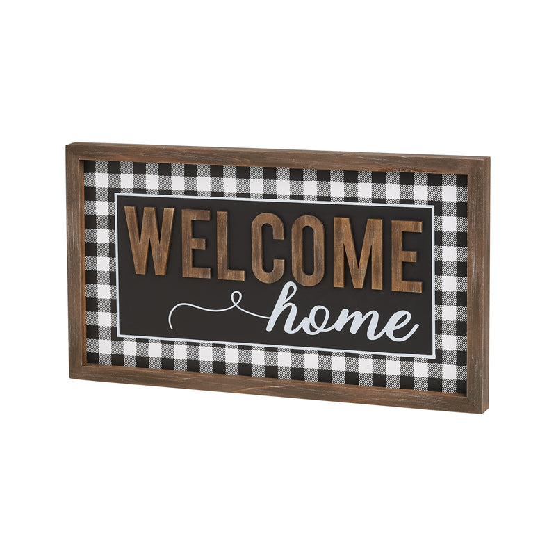 Welcome Home 3D Framed Sign