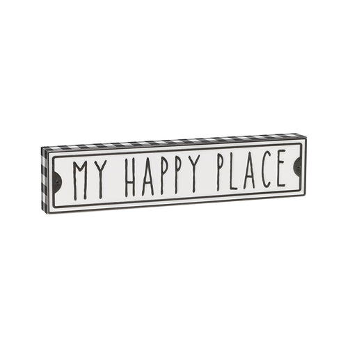 Happy Place Street Box Sign
