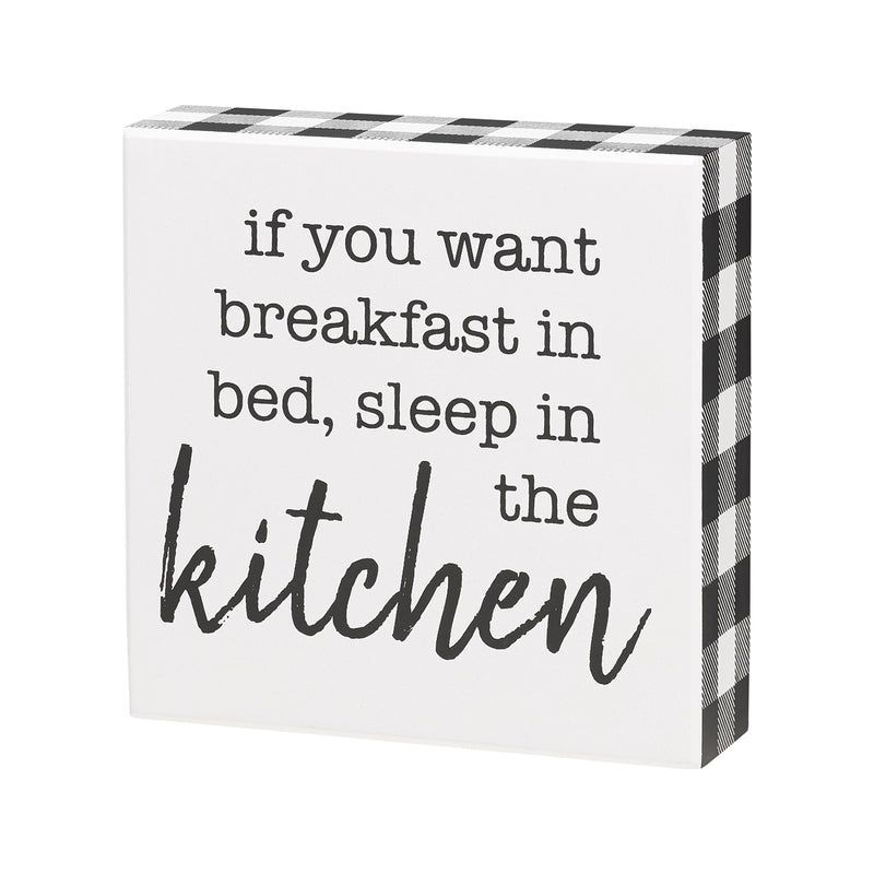 Breakfast In Bed Box Sign