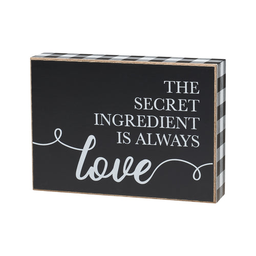 Secret Ingredient Box Sign