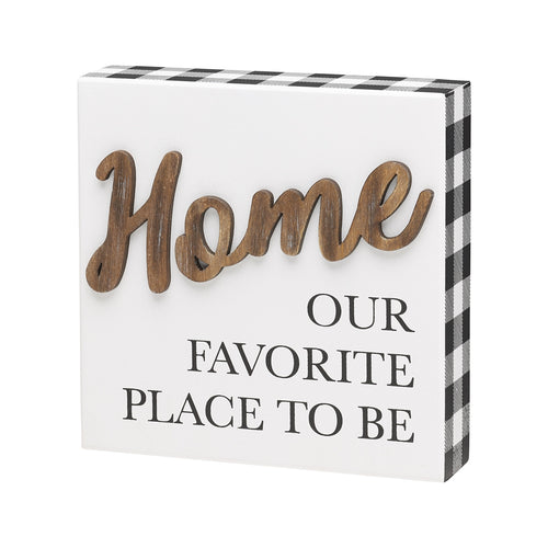 Place To Be 3D Box Sign