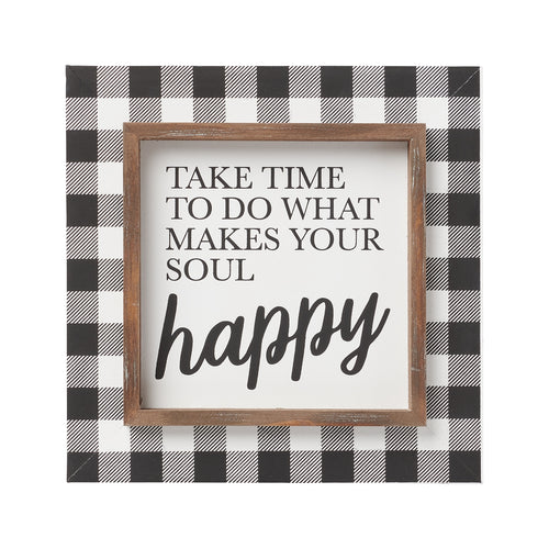 Soul Happy Layered Frame Sign