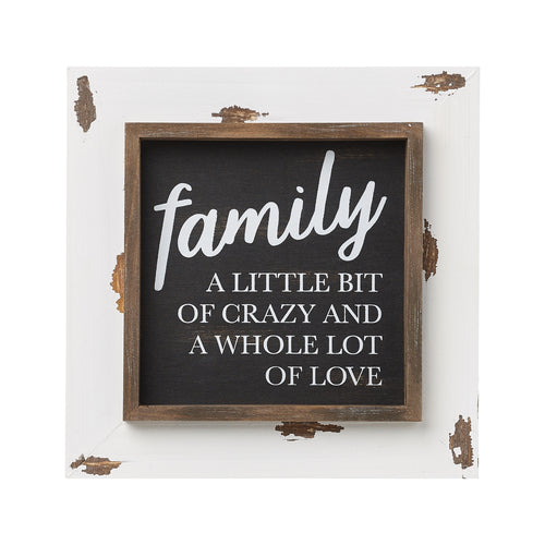 Family Love Layered Frame Sign
