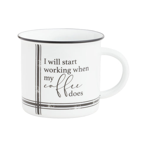 Start Working Camp Mug