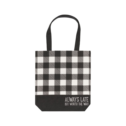 Always Late Canvas Tote