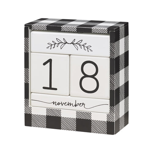 BW Check Block Calendar