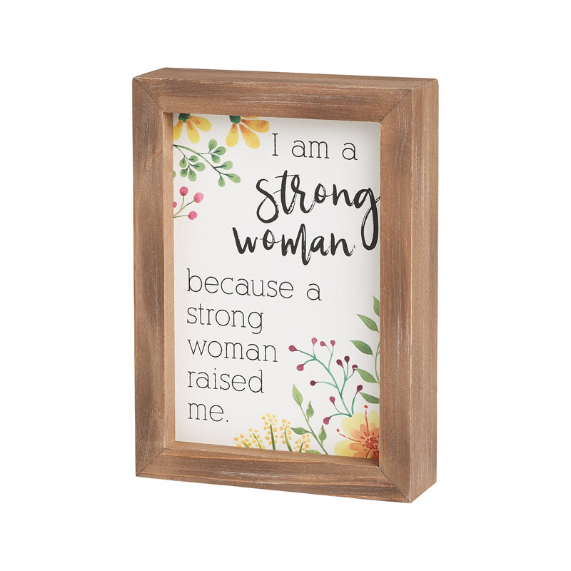 Strong Woman Framed Sign