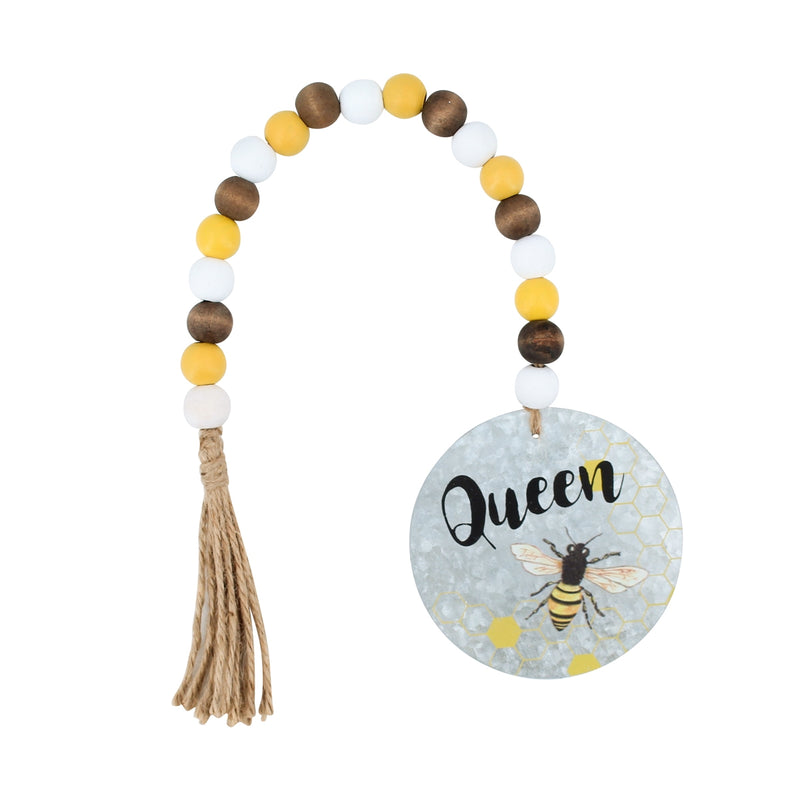Queen Bee Beaded Tag