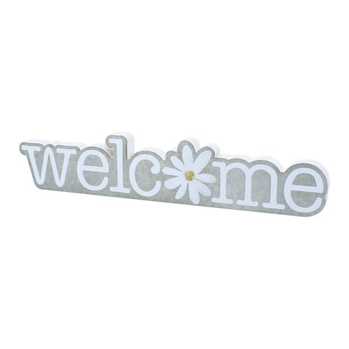 Welcome Daisy Galv. Cutout