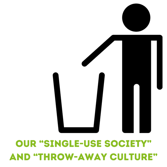 "Our ""Single-Use Society"" and ""Throw-Away Culture"""