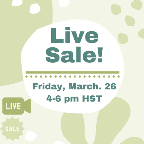 Upcycle Hawaii March IG Live Sale