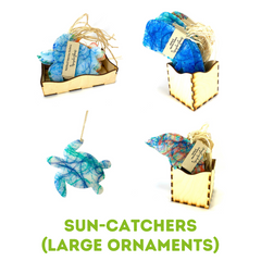 Suncatcher Ornament Product Line Upcycle Hawaii