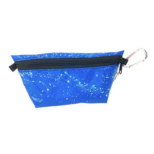 "**Limited Release** Banner Zipper Pouch, Medium Boxed: ""Blue Splash"""