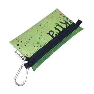 "**Limited Release** Banner Zipper Pouch, Medium Flat ""Happy Green"""