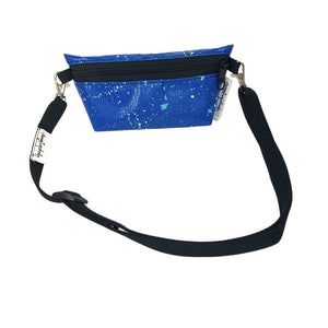 "**Limited Release** Banner Zipper Pouch, Small Boxed: ""Blue Splash"""