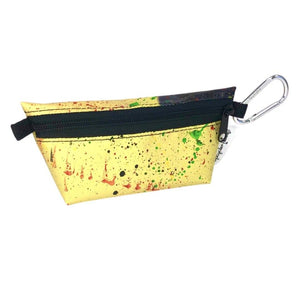 "**Limited Release** Banner Zipper Pouch, Small Boxed: ""Yellow Splash"""