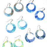 Melted Marine Debris Earrings: Circle Cut-Out