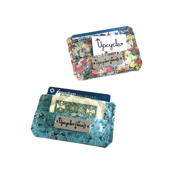 FPWALL-RAI_APT BOTH SIZES Upcycle Hawaii Fused Plastic Wallets Upcycled Repurposed Made in Hawaii