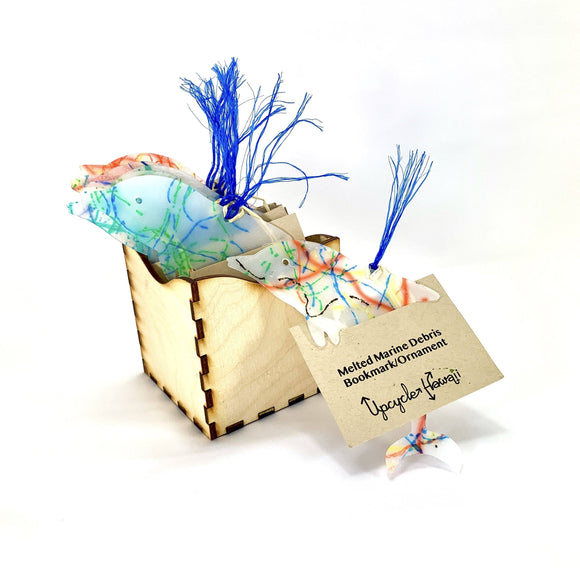 Upcycle Hawaii Melted Marine Debris Bookmark Ornaments Upcycled Repurposed Made in Hawaii