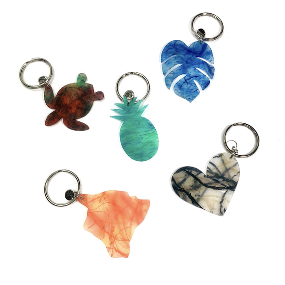 MMDKEY GROUP PHOTO Upcycle Hawaii Melted Marine Debris Keychains Upcycled Repurposed Made in Hawaii