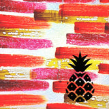 Pineapple on Red Background Painted Plastics Upcycle Hawaii Hand painted Fused Plastic Zipper Pouches Upcycled reclaimed Made in Hawaii