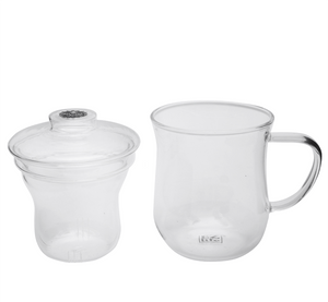 Load image into Gallery viewer, Double Wall Glass Infusers Teacup 350ml