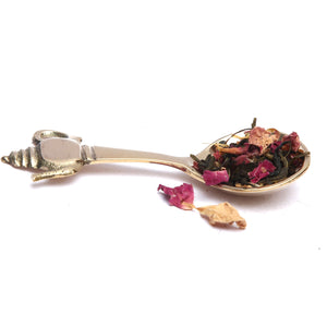Load image into Gallery viewer, Brass Tea Spoon With a Kettle End