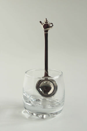 Load image into Gallery viewer, Nickel coated Brass Tea Spoon