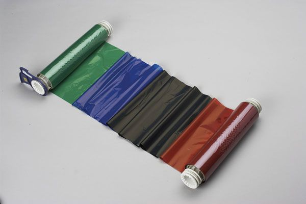 076786 - Globalmark Colour & Cut 400mm x 60 metre Black-Red-Blue-Green ribbon - Labelzone