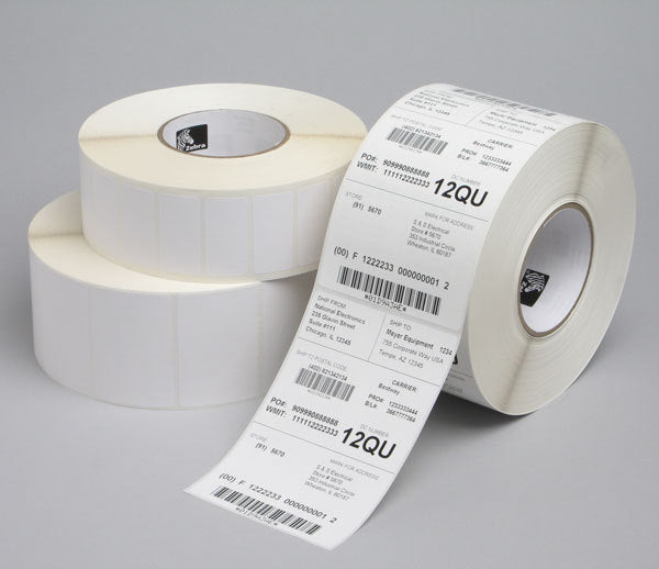 3006292-T - Zebra Z-Select 2000T Coated Thermal Transfer Paper Labels 101.6mm x 101.6mm