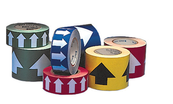 275125 Brady Green with White Directional Arrow Tape