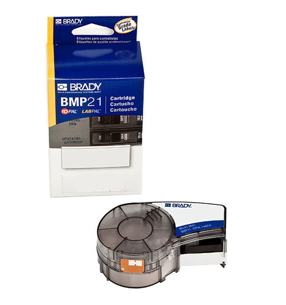 M21-500-488 Brady BMP21 Black on White Polyester Label Tape - Labelzone