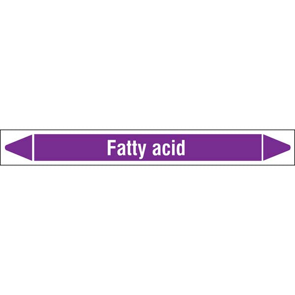 N007042 Brady White on Violet Fatty acid Clp Pipe Marker On Roll
