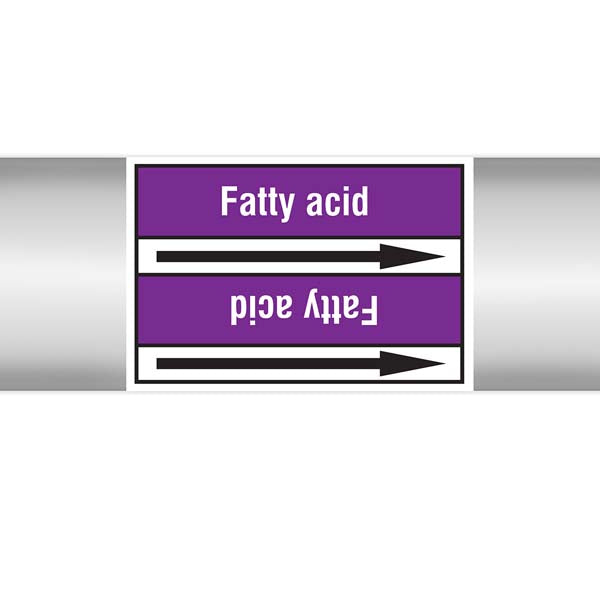 N007044 Brady White on Violet Fatty acid Clp Pipe Marker On Roll