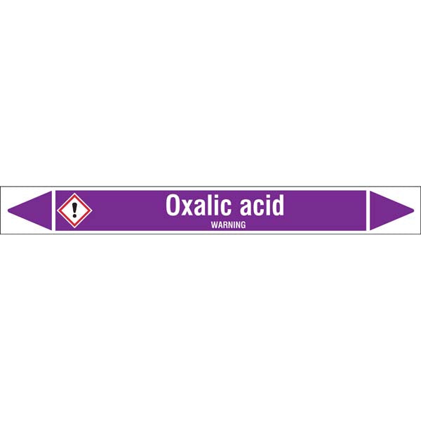 N007064 Brady White on Violet Oxalic acid Clp Pipe Marker On Roll