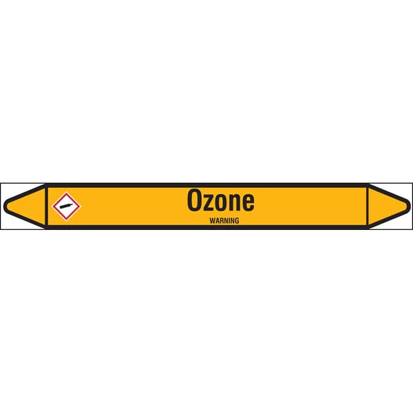 N007746 Brady Black on Yellow Ozone Clp Pipe Marker On Roll