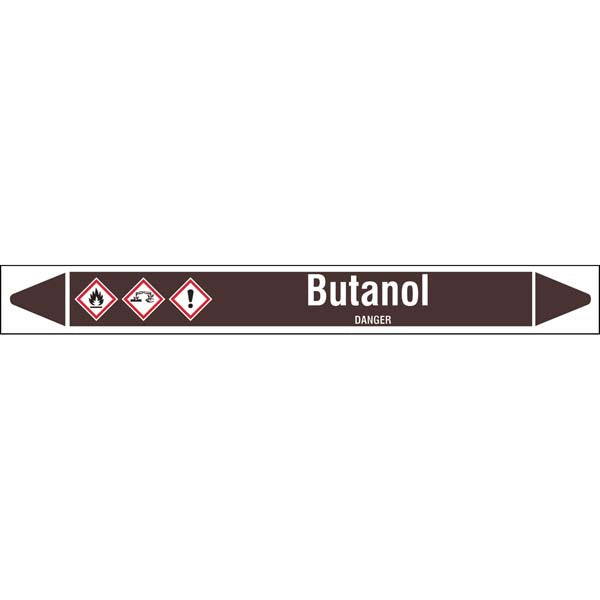 N007884 Brady White on Brown Butanol Clp Pipe Marker On Roll