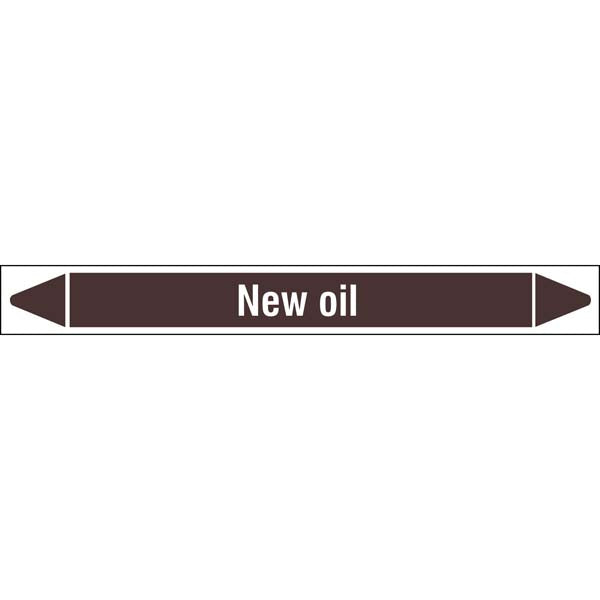 N008127 Brady White on Brown New oil Clp Pipe Marker On Roll