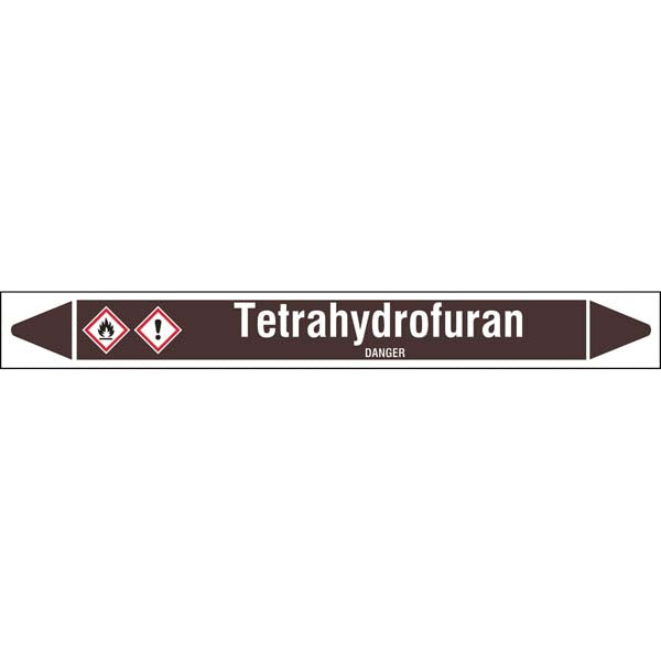 N008246 Brady White on Brown Tetrahydrofuran Clp Pipe Marker On Roll