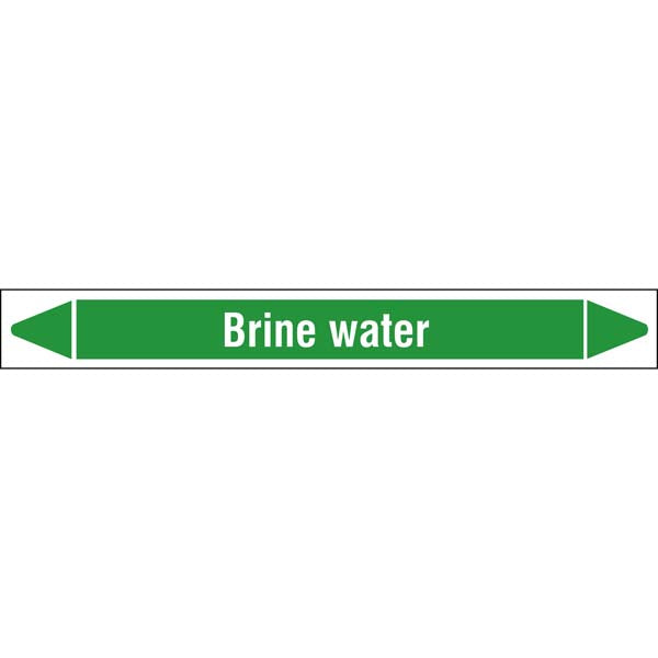 N009360 Brady White on Green Brine water Clp Pipe Marker On Roll