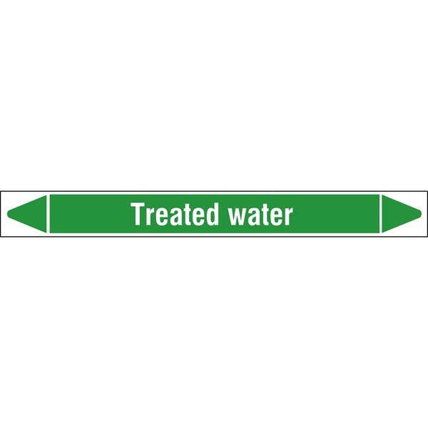 N009387 Brady White on Green Treated water Clp Pipe Marker On Roll
