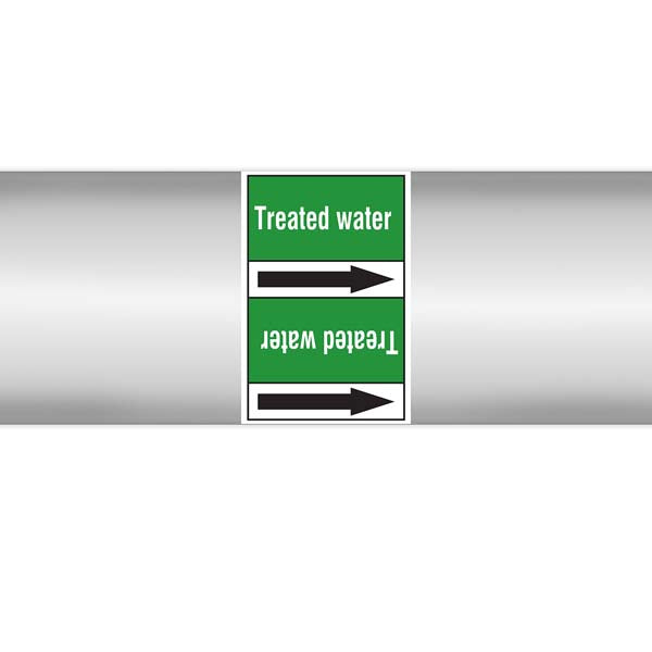 N009391 Brady White on Green Treated water Clp Pipe Marker On Roll