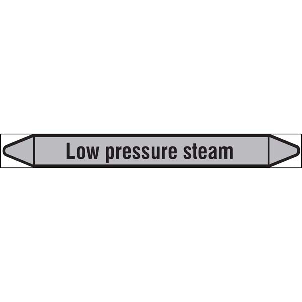 N009495 Brady Black on Grey Low pressure steam Clp Pipe Marker On Roll