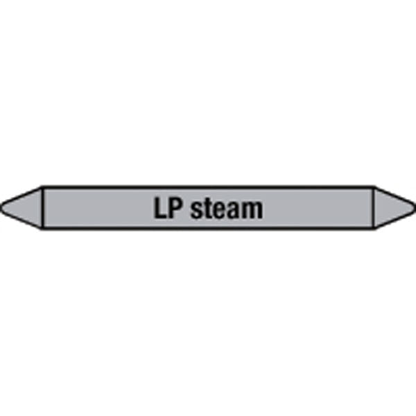 N009506 Brady Black on Grey LP steam Clp Pipe Marker On Roll
